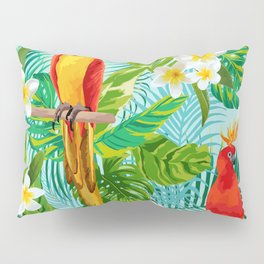 Tropical Parrot Chillin Pillow Sham