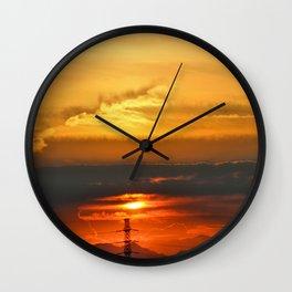 Sunset Horizon Wall Clock