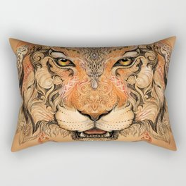 Indian Tiger Tattoo Rectangular Pillow