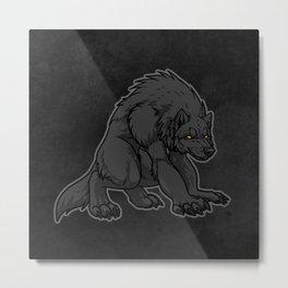 Crouching Werewolf Metal Print