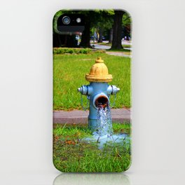 Fire Hydrant Gushing Water iPhone Case