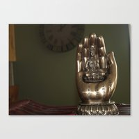 hindu Canvas Prints featuring Hindu  by Jessica Campbell
