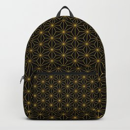 Asanoha -Gold & Black- Backpack