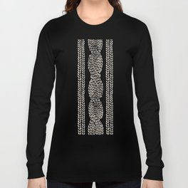 Cable Knit Grey Long Sleeve T-shirt