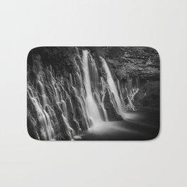 Burney Falls in Black and White Bath Mat