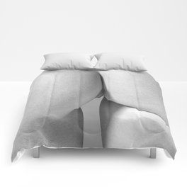 Imperfect Symmetry in a woman body Comforters