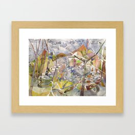 Autumn attacks on Summer Framed Art Print