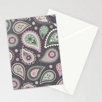 Soft romatic paisleys Stationery Cards