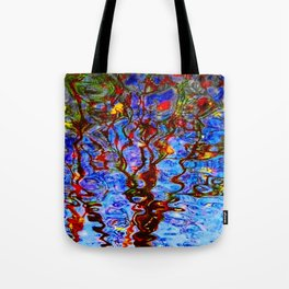 Urban Painting 125 - Blue Tote Bag