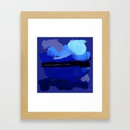 Loving Blue Framed Art Print