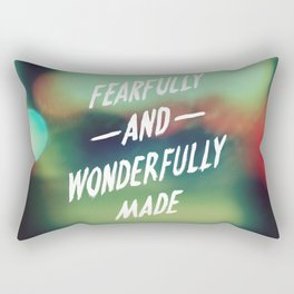 Fearfully and Wonderfully Made 2.0 Rectangular Pillow