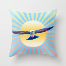 Hawk Starburst Throw Pillow