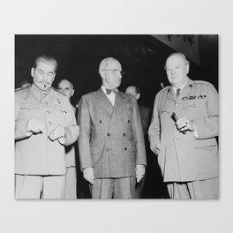 Stalin, Truman, And Churchill Canvas Print