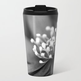 Blue spring flower Hepatica in bw II Travel Mug