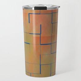 Teal & Coral Tilles Travel Mug