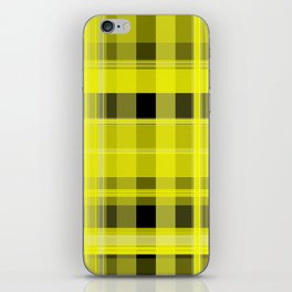 Yellow and Black Plaid iPhone Skin
