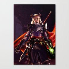 Dragon Age Inquisition - Eva the Qunari warrior Canvas Print
