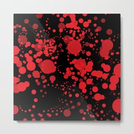 Red Bubbles Metal Print