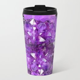 AWESOME PURPLE AMETHYST CRYSTAL CLUSTER Travel Mug