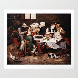 Hieronymus Bosch - The Bacchus Singers Art Print