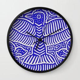 San Blas Island Pajaro - Blue Wall Clock