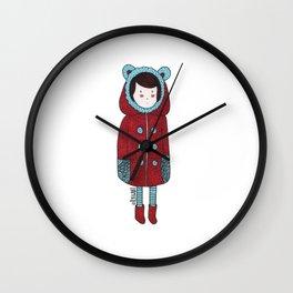 Red Coat Girl Wall Clock