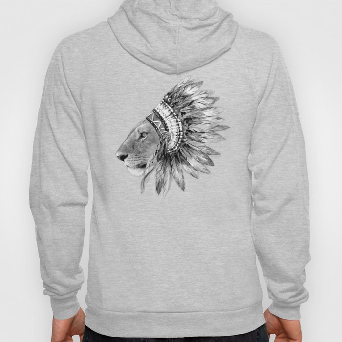 The Feminist - Chief Lioness - black and white Hoody