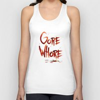 gore Tank Tops featuring Gore Whore by Squidbiscuit
