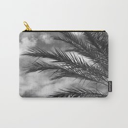 Palm Tree Upshot In Elegant Noir Sky Carry-All Pouch