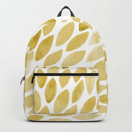 Watercolor brush strokes burst - yellow Backpack