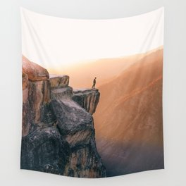 On the cliff, Yosemite Wall Tapestry