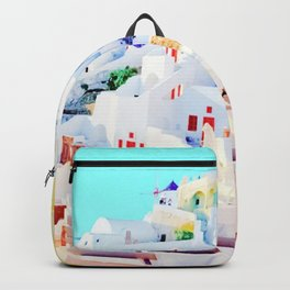 Aegean Island with Colorful Houses Backpack
