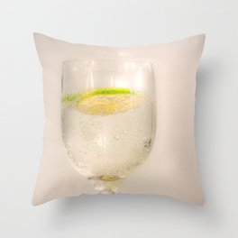 A Slice of lime Throw Pillow
