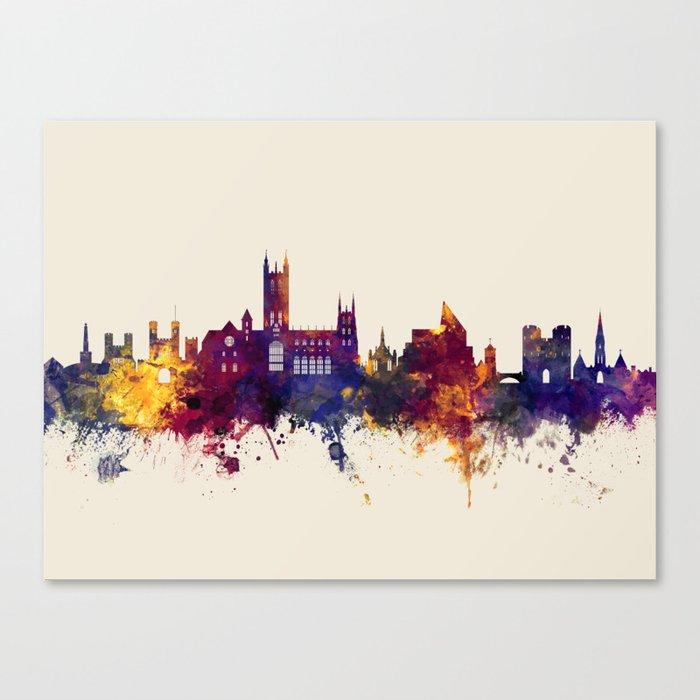 Canterbury England Skyline Canvas Print