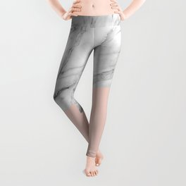 Marble and Pale Dogwood Color Leggings