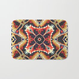 Colorful Tribal Geometric Abstract Bath Mat