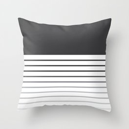 Gradient Line Throw Pillow