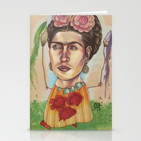 frida Stationery Cards featuring FRIDA by busymockingbird