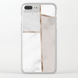 Taupe stones - rose gold adorns Clear iPhone Case