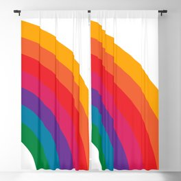 Retro Bright Rainbow - Right Side Blackout Curtain
