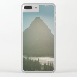 Mt. Grinnell Clear iPhone Case