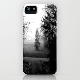 Black and White Woods iPhone Case