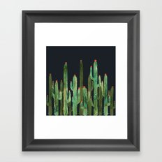Cactus Four at night Framed Art Print