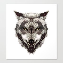 WereWolf Face - n°1 Colored Canvas Print