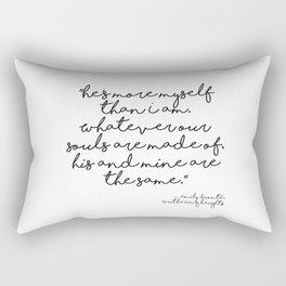 More myself than I am - Bronte quote Rectangular Pillow