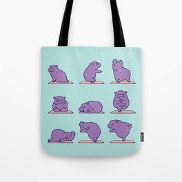 Baby Hippo Yoga Tote Bag