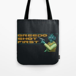 Greedo Shot First Tote Bag