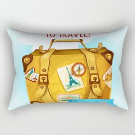 Travel Concept With Suitcase Rectangular Pillow