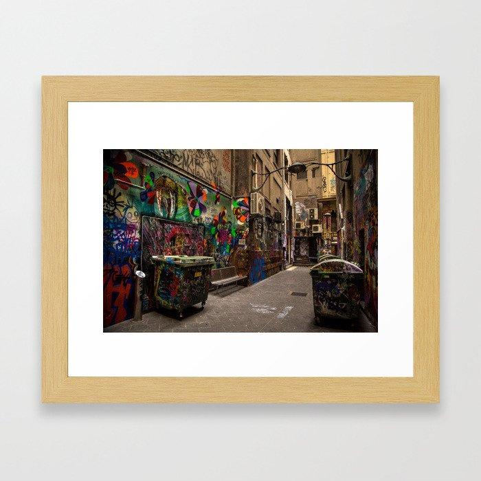Graffiti Lane Framed Art Print