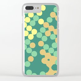 Sea Green Dots + Other Bonus Colors Clear iPhone Case